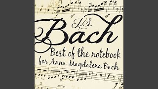 "Notebook for Anna Magadalena Bach: Aria. ""So oft ich meine Tobackspfeife"" in G Minor, BWV 515a"
