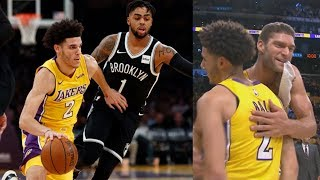 Russell Returns to LA! Brook Lopez 34 Pts 6 Threes! Nets vs Lakers 2017-18 Season