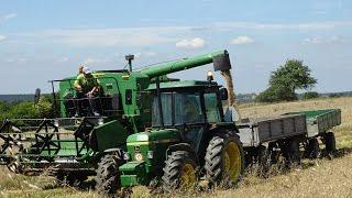 Żniwa 2016 - Harvest in Poland John Deere 1032, 1640, 2030 LS