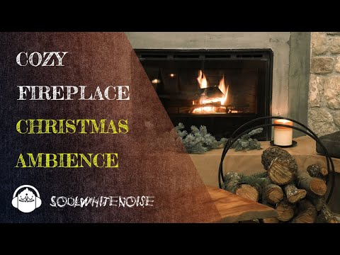 Christmas Fireplace with Crackling Fire Sounds | Christmas Ambience