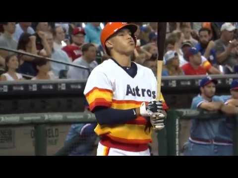 Carlos Correa in action - At Minute Maid Park - In Houston Texas 2015