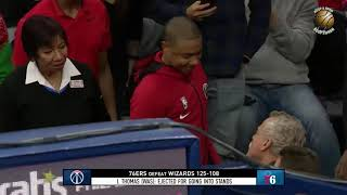 Isaiah Thomas Confronts Fan Gets Ejected! Wizards vs Sixers 12 22 2019