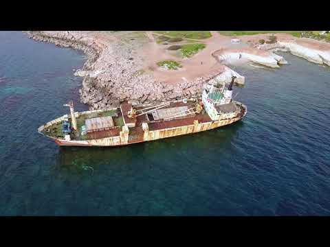 Edro 3 Shipwreck by Drone | Paphos | Cyprus