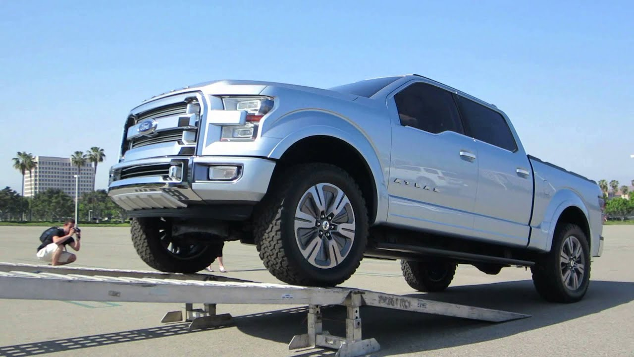 Ford atlas concept truck driving into transporter youtube