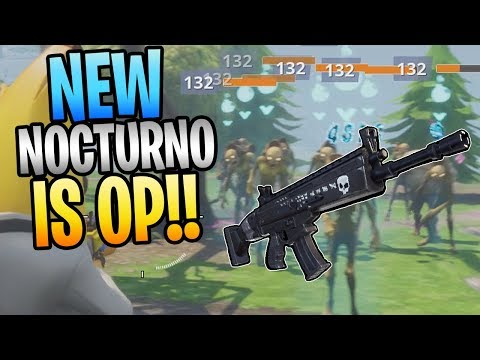 The New NOCTURNO Is The BEST Assault Rifle In Save The World! New Founder's Weapons Perks