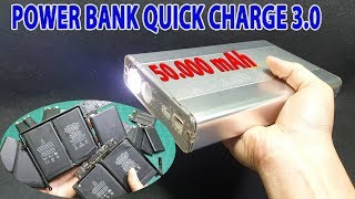 Build Power Bank Quick Charge 3.0 50000mAh with Old MacBook Battery