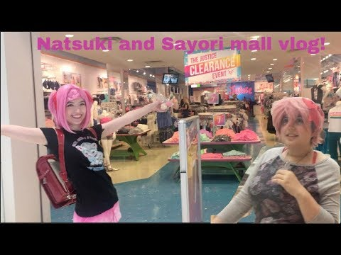Doki Doki Literature Club Cosplay - Natsuki and Sayori Mall Vlog!