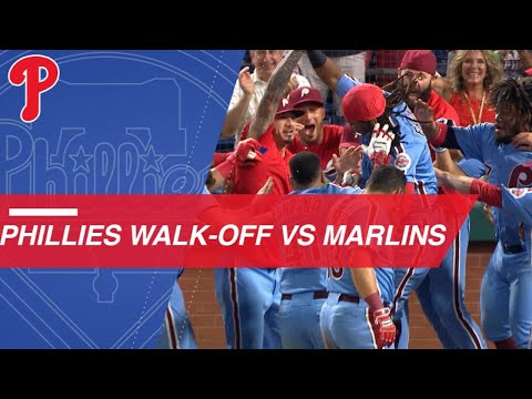 Phillies walk-off Marlins in the 9th