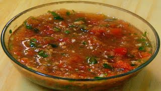 Tomato Chutney Recipe - How to make Tomato Chutney - Side dish with Arabic Rice