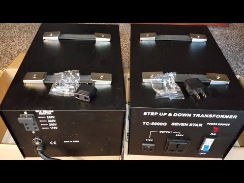 HOW TO US EUROPEAN ELECTRONICS IN AMERICA   Seven Star TC-5000G Step Up Step Down Transformer