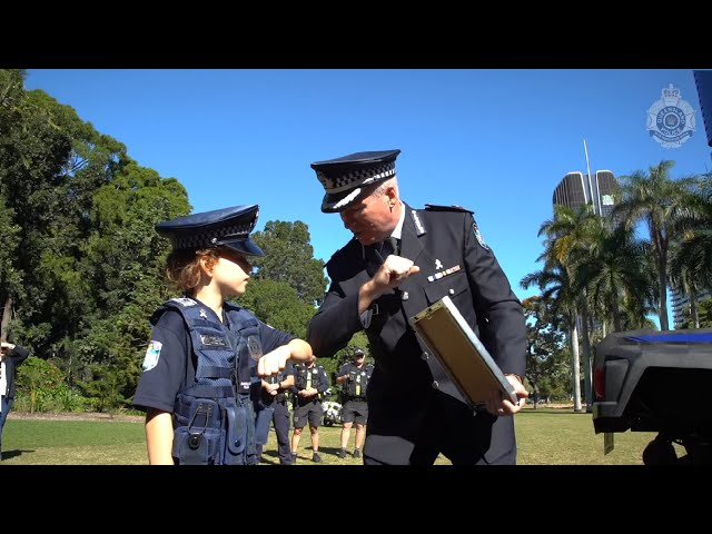 QPS inducts the newest Special Junior Constable to their ranks