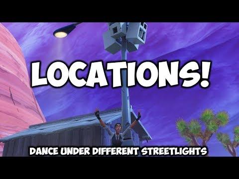 Dance Under Different Streetlights (LOCATIONS!) Fortnite.