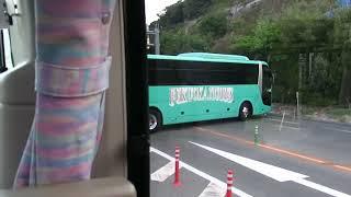 【西日本豪雨】JR代行バスによる天応西ICでのUターン【災害時BRT】