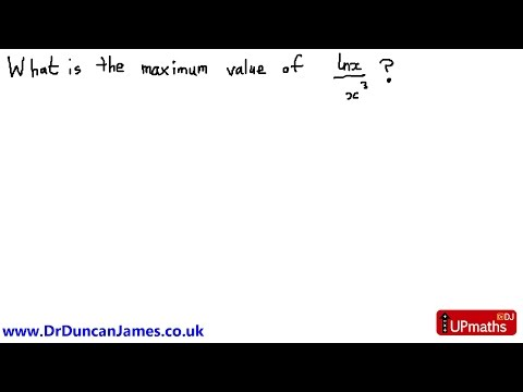 Difficult Maximum Value Question (UP4)