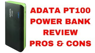 Adata PT100 10000mah Power Bank Review with Pros and Cons