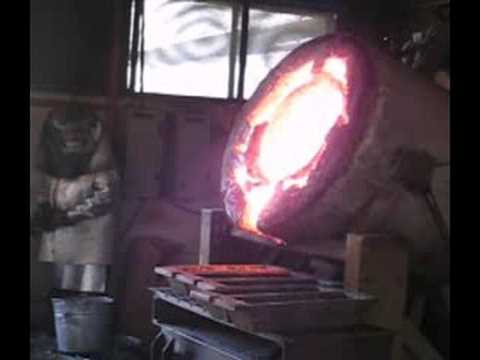 Molten Silver Being Poured From Mine in Mexico