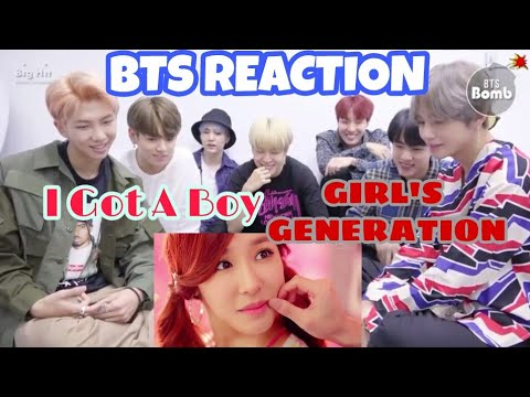 BTS reaction to GIRL'S GENERATION - I GOT A BOY