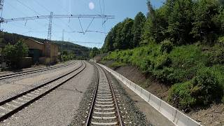 Driver's view of Balkan crossing railway G. Oryahovitsa - Tulovo