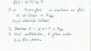 Mathematik für Informatik Studenten 59 - RSA : Wie geht das?