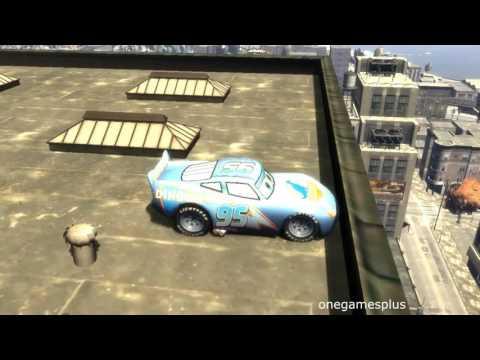 Super power Dinoco McQueen Fifteen jumps and flight Disney car game GTA IV by onegamesplus |