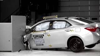 Краш-тест новой Toyota Corolla 2014 от IIHS (видео)