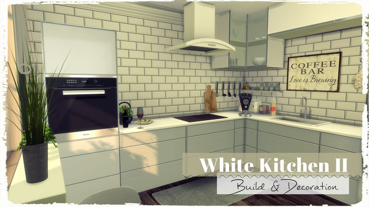 Sims 4 White Kitchen Ii Build Amp Decoration Youtube
