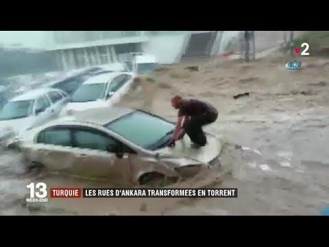 Turquie : les rues d'Ankara transformées en torrent / JT du dimanche 6 mai 2018