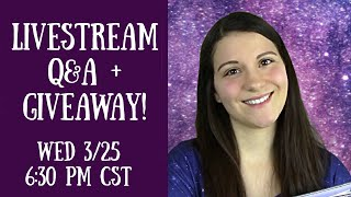1k Follower Giveaway + Q&A Livestream!