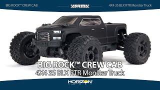 Load Video 1:  ARRMA 1/10 BIG ROCK 4X4 3S BLX Brushless MT Black
