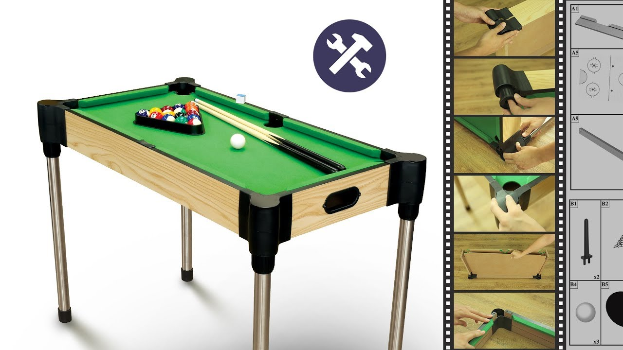 ASSEMBLY VIDEO MA8185 36u201d 4 IN 1 COMBO GAMES TABLE