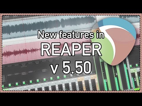 What's new in REAPER 5.50 - Automation Items; Non-Destructive Spectral Editing and more