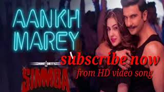 Aankh Mare MP3 song full