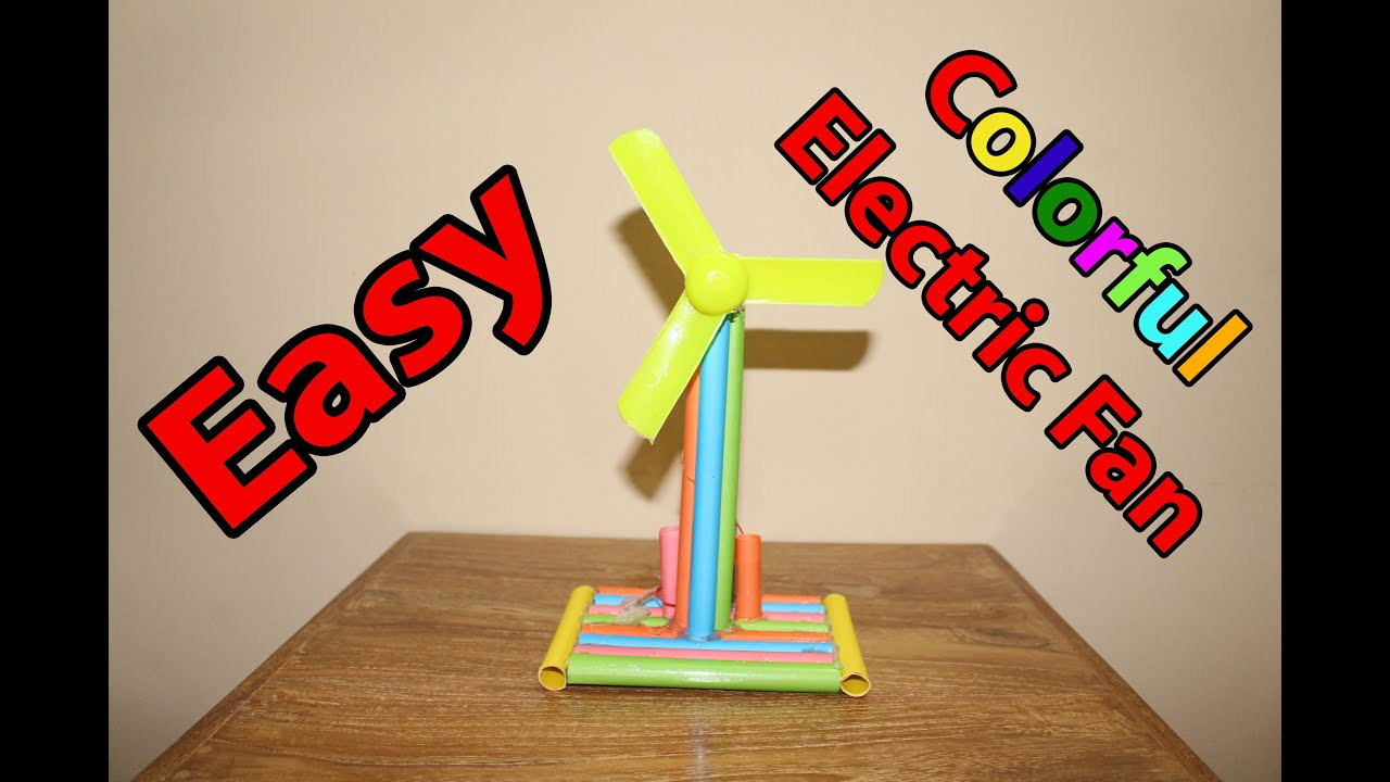 How to Make an Electric Table Fan From Paper | Easy Paper ... - photo#25