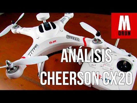 ANALISIS DRONE CHEERSON CX20 EN ESPAÑOL: Drones baratos para llevar una camara deportiva GoPro