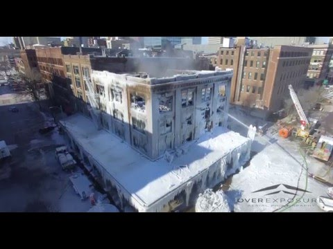 Downtown Omaha Old Market Fire 1/10/16 From Drone