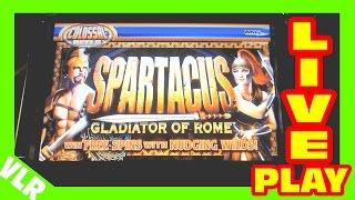 Gambar cover Spartacus - COLOSSAL REELS - Slot Machine LIVE PLAY - Freeplay Friday 48