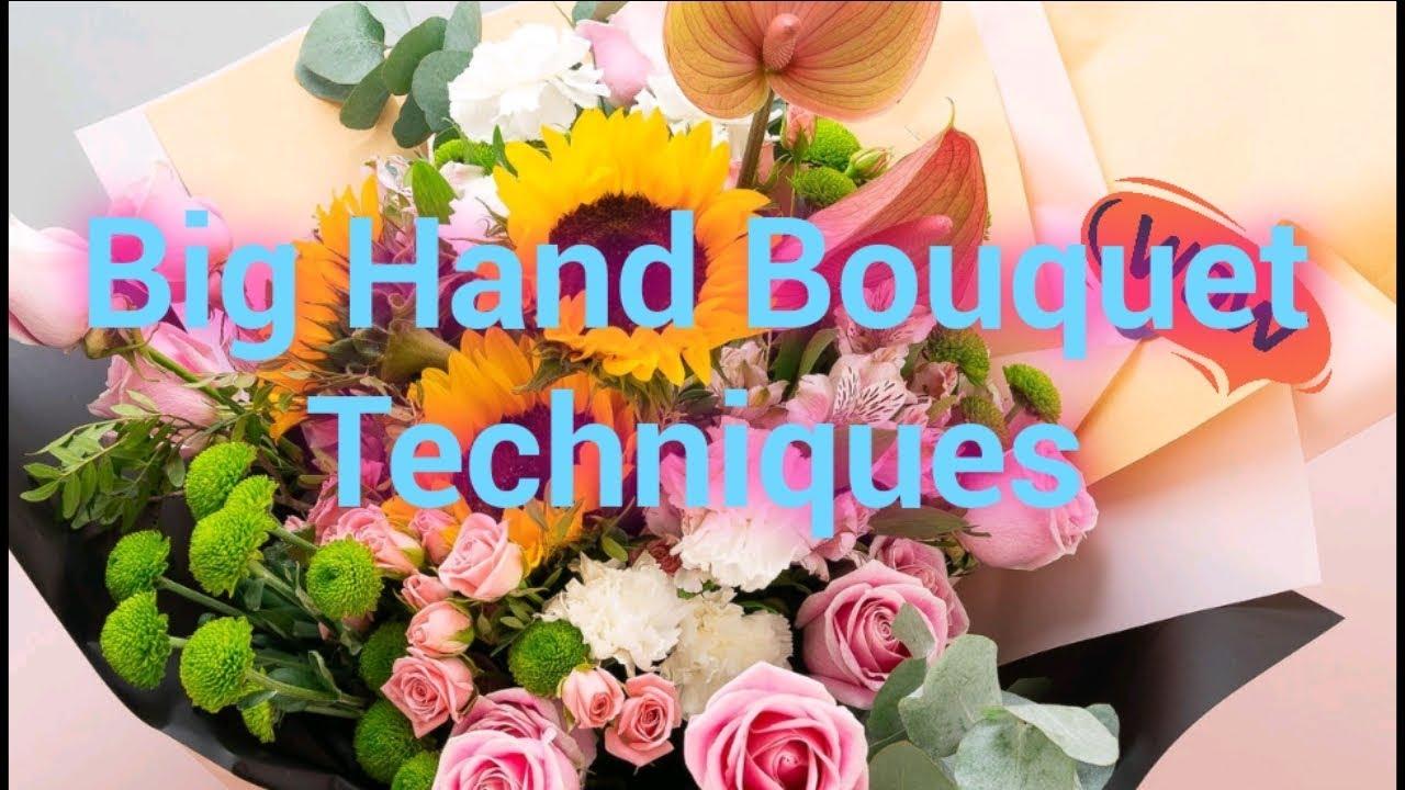 Easy Big Hand bouquet techniques #florist #floristry #floraldesigner #ofwflorist #flowers