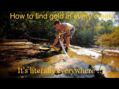 Смотреть HOW TO FIND GOLD EVERY TIME IN ANY CREEK!!!!! онлайн