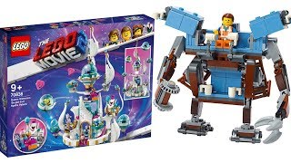 Лего Фильм 2 Робот Эммета, Дворец королевы Многолики и Бальтазар