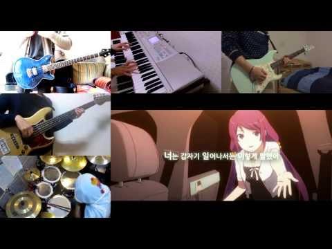 [HD]Bakemonogatari ED - Kimi no Shiranai Monogatari [Full session Band cover]