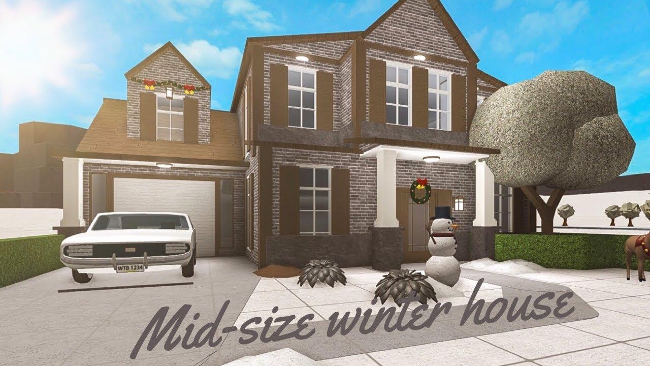 Bloxburg    Mid-Size winter house    Speedbuild ...