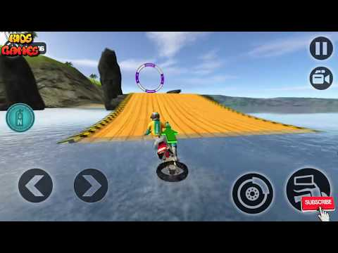 Motorbike Games For Kids, Floating Water Bike Driving, Water Motorcycle Game, Motocross Racing 2017