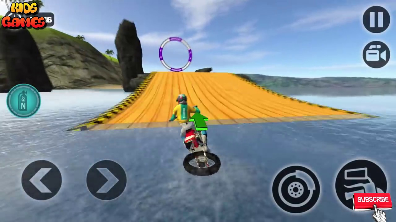 Motorbike Games For Kids Floating Water Bike Driving