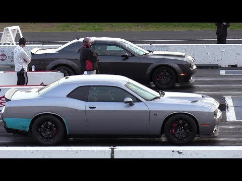 The difference between Demon and Hellcat – 1/4 mile drag race