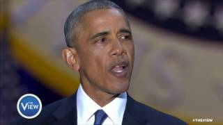 Pres. Obama Pays Tribute to First Lady in Farewell Speech | The View Free HD Video