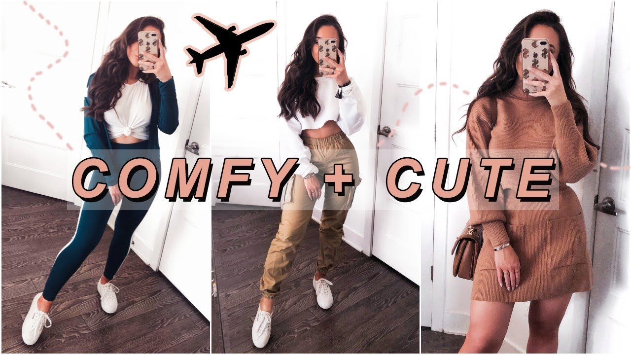 HOW TO LOOK CUTE WHILE BEING COMFY | AIRPORT OUTFITS 6