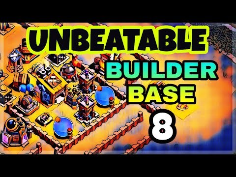 UNBEATABLE BUILDER BASE 8 LAYOUT WITH REPLAY PROOF | BEST BUILDER HALL 8 BASE | CLASH OF CLANS