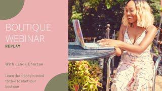 How to Start an Online Boutique | Webinar Replay