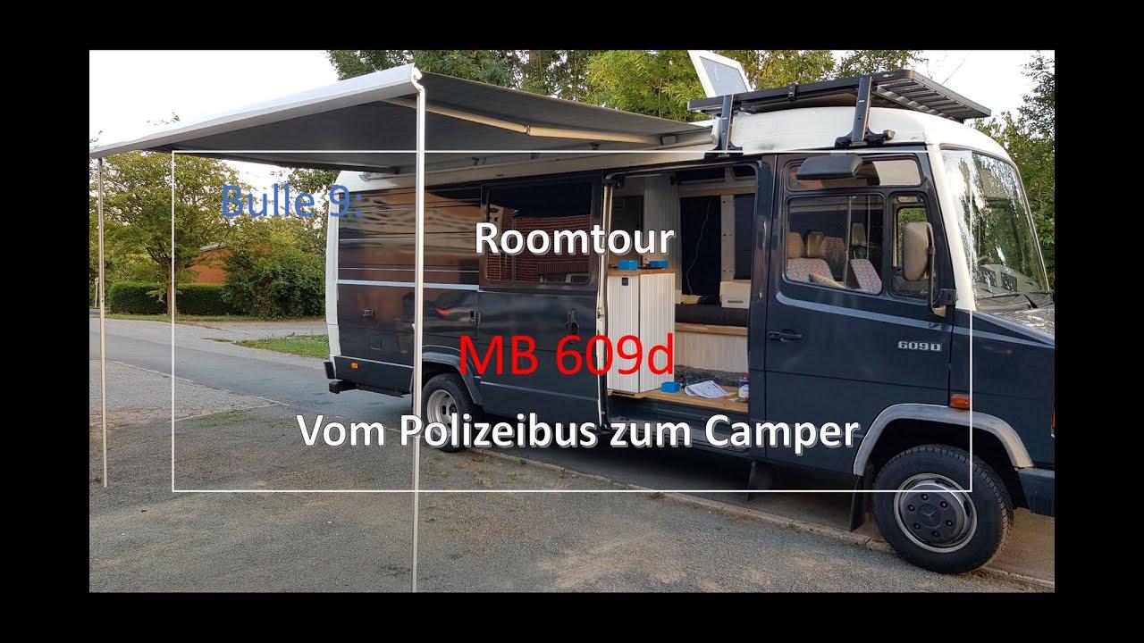 Bulle 9:  MB609d   Roomtour Mercedes T2 Umbau vom Polizeibus zum Camper