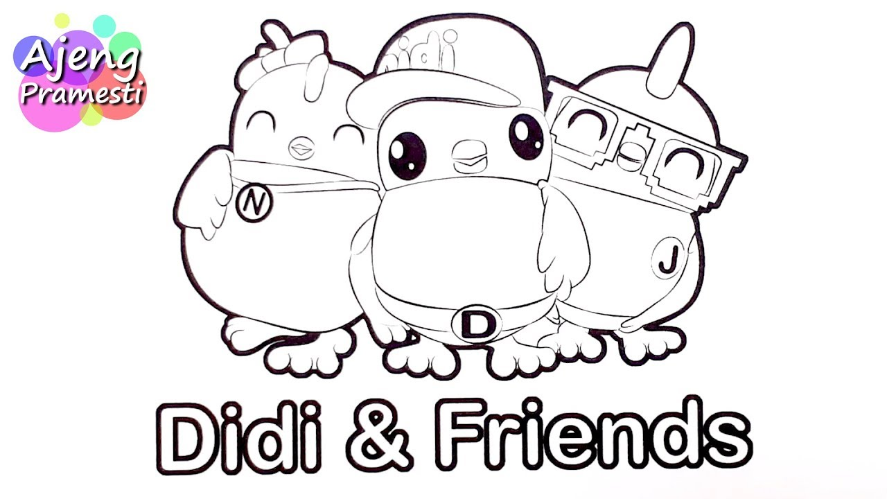 Belajar Mewarnai Gambar Kartun Didi Friends Youtube